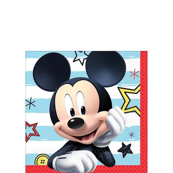 Servilletas para Bebidas Mickey Mouse, 16 piezas