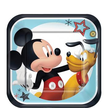 Platos de Papel Mickey Mouse - 7 Pulgadas, 8 piezas