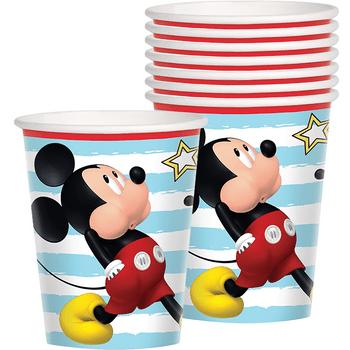 Vasos de Papel Mickey Mouse, 8 piezas