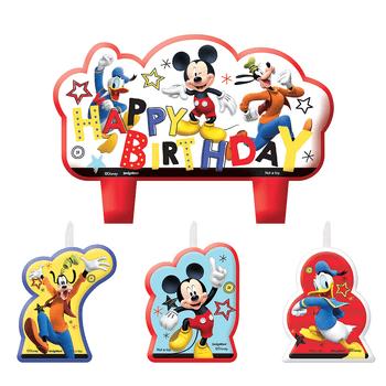 Kit de Velas de Cumpleaños Mickey Mouse, 4 piezas