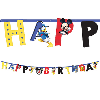 Banner Happy Birthday Mickey Mouse