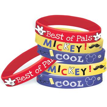 Brazaletes Mickey Mouse, 6 piezas
