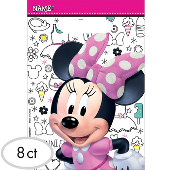 Bolsas de Plástico para Dulces Minnie Mouse, 8 piezas