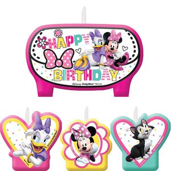 Kit de Velas de Cumpleaños Minnie Mouse, 4 piezas