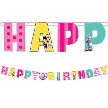 Banner Happy Birthday Minnie Mouse