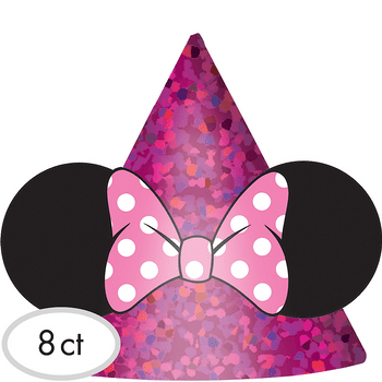 Gorritos de Fiesta Minnie Mouse, 8 piezas