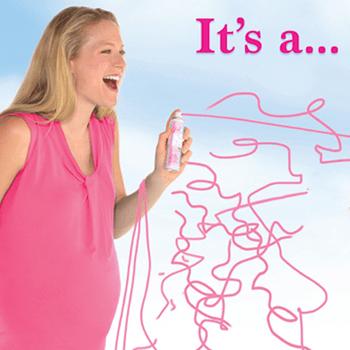 Serpentina en Aerosol Revelación de Género Niña