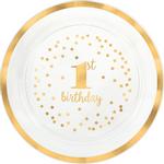 Charola-de-Plastico-Primero-Cumpleaños-Dorado