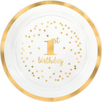 Charola de Plástico Primer Cumpleaños Dorado