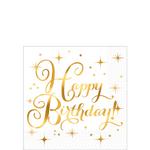 Servilletas-para-Bebidas-Happy-Birthday-Dorado-con-Blanco-16-piezas