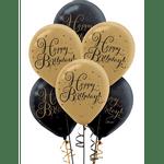 Globos-de-Latex-Happy-Birthday-Negro-y-Dorado-15-piezas