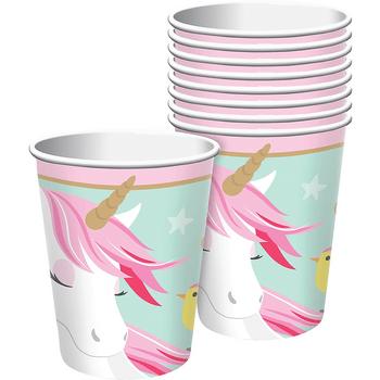 Vasos de Papel Unicornio Mágico, 8 piezas