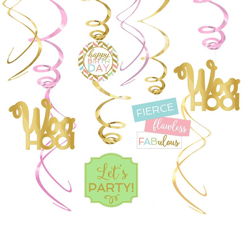 Decoraciones-Colgantes-en-Espiral-Cumpleaños-Colores-Pastel
