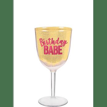 Copa para Vino Birthday Babe