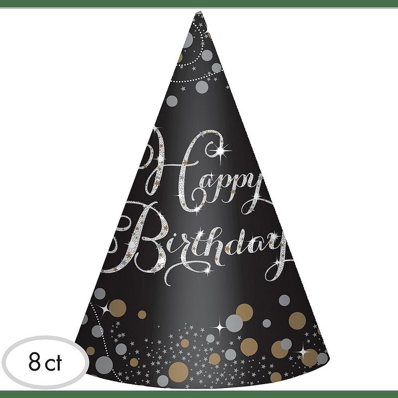 Gorritos-de-Fiesta-Cumpleaños-Negro-y-Dorado