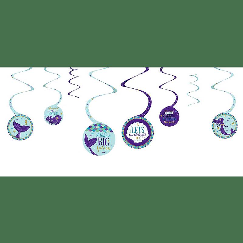 Decoraciones-Colgantes-en-Espiral-Sirenas