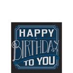 Servilletas-para-Bebidas-Happy-Birthday-Azul-Marino-16-piezas