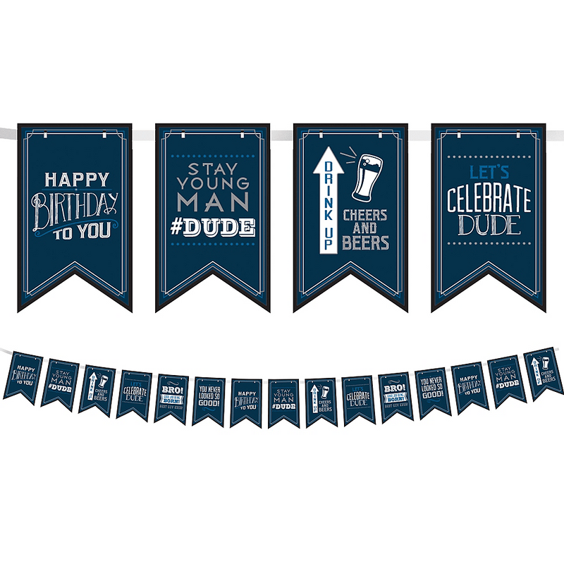 Banner-de-banderines-Cumpleaños-Azul-Marino
