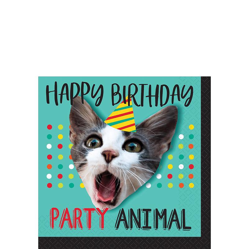 Servilletas-para-Bebidas-Happy-Birthday-Diseño-Animal-16-piezas