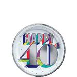 Platos-Redondos-de-Papel-Cumpleaños-40-Metalico-8-piezas