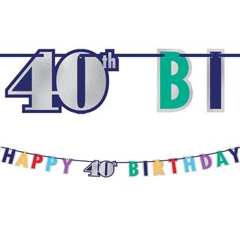 Banner Happy Birthday Metálico