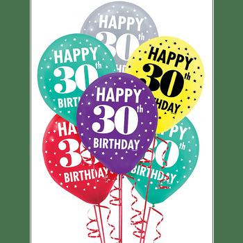 Globos de Látex Surtidos Cumpleaños 15 piezas