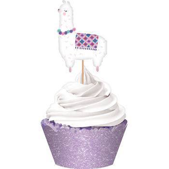 Kit de Decoración para Cupcakes Llama, 34 piezas