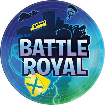 Platos de Papel Battle Royal de 9 Pulgadas, 8 piezas