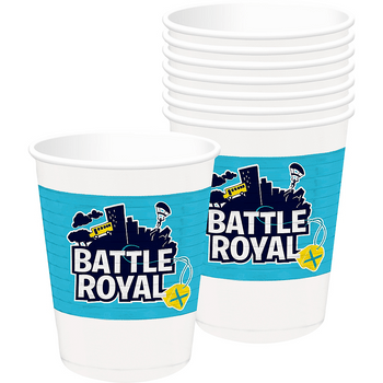 Vasos de Plástico Battle Royal, 8 piezas