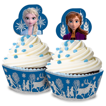 Kit de Decoración para Cupcakes Frozen 2, 24 piezas
