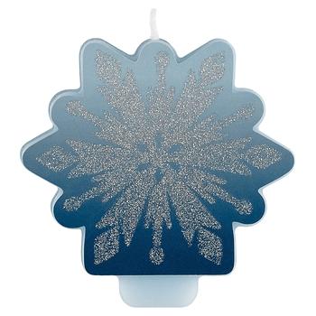 Vela de Cumpleaños Copo de Nieve con Brillos Frozen 2