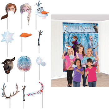 Montaje Escénica con Accesorios para Fotos Frozen 2