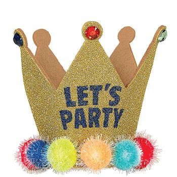 Diadema Luminosa con Corona Let's Party