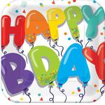 Platos-Cuadrados-de-Papel-Globos-Happy-Birthday-18-piezas
