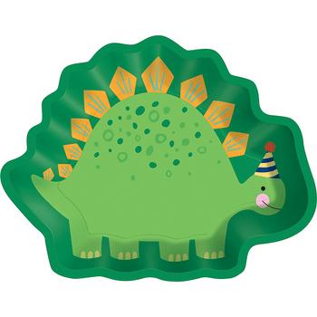 Platos de Papel Forma de Dinosaurio, 8 piezas