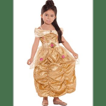 Disfraz Brillante de Bella para Niña - La Bella y la Bestia
