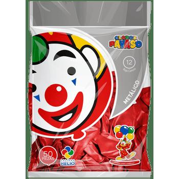 Bolsa con 50 Globos Metálicos No. 12 Rojo Cereza