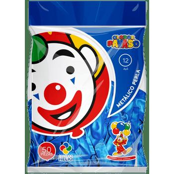 Bolsa con 50 Globos Metálicos No. 12 Azul Perla