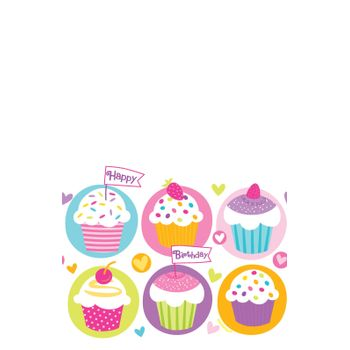 Mantel de Plástico Cumpleaños Cupcakes
