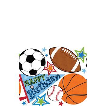 Mantel de Plástico Cumpleaños Deportes