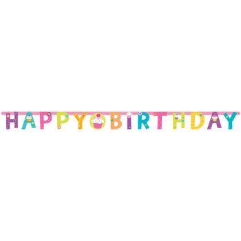 Banner Happy Birthday Cupcakes