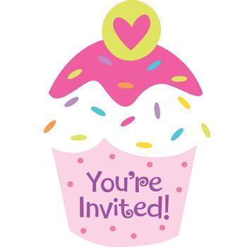 Invitaciones Cupcake, 8 piezas