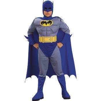 Disfraz de Batman Musculoso Azul para Niño