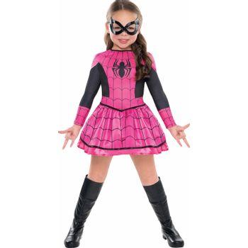 Disfraz de Spidergirl Rosa para Niña