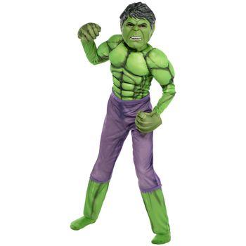 Disfraz de Hulk Musculoso Deluxe para Niño