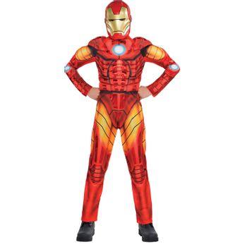 Disfraz de Iron Man Musculoso Deluxe para Niño