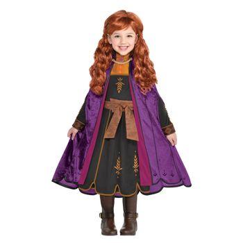 Disfraz de Anna Negro para Niña - Frozen 2