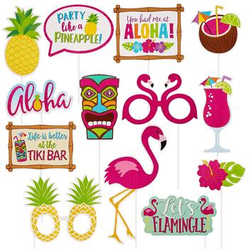 Accesorios para Fotos Tiki Tropical, 13 piezas