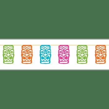 Banner de Banderines de Colores Tiki Tropical