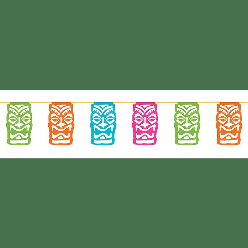 Banner-12Ft-Papel-Picado-Tropical-Tiki